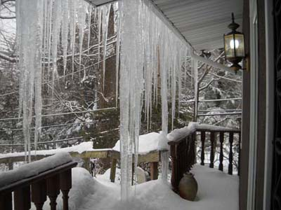 Ice Dams Russell Roofing and exteriors